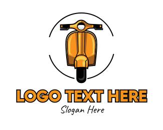 Auction - Golden Vintage Motorcycle logo design