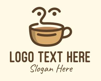 Mocha - Brown Coffee Face logo design
