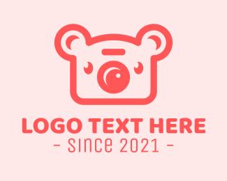 Koala - Pink Koala Camera logo design