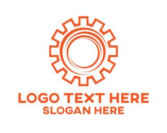 """""""Orange Stroke Cog"""" by LogoBrainstorm"""