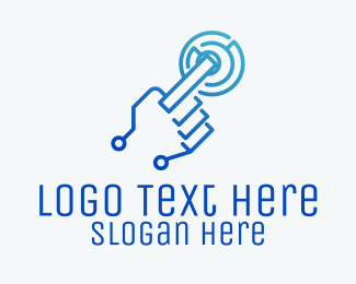 Touchscreen - Touchscreen Technology logo design