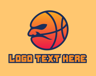 Basketball Coach - Grumpy Basketball Mascot  logo design