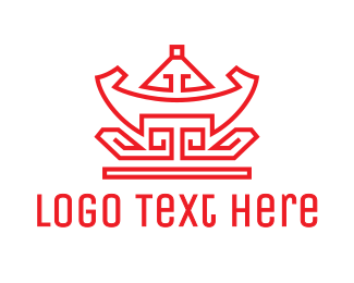 Asian - Red Chinese Nugget logo design