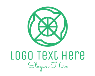 Solution - Green Cross Hair Monogram logo design