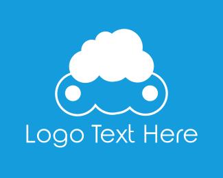 Cloud Computing - Cloud Face logo design