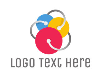 Audio - Triple Circle Disc logo design