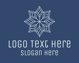 Cool - Geometric Snowflake logo design