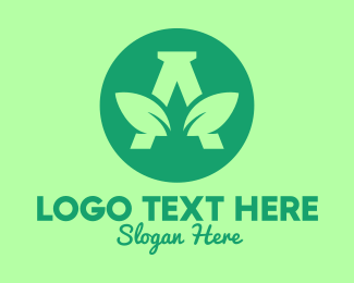 All Natural - Leaf Letter A logo design