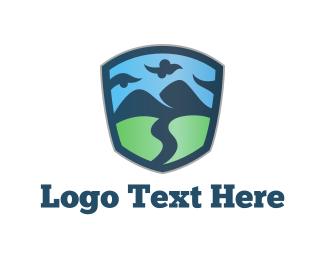 Field - Nature Emblem logo design