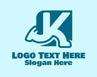 Running - Running Letter K logo design