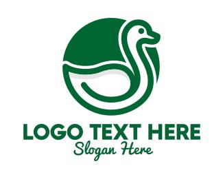 Duck - Green Duck Spa logo design