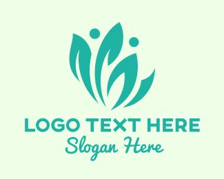 Healthy Lifestyle - Green Eco Leaf Community logo design