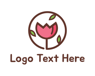 Aesthetic - Flower Circle logo design