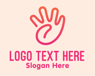 Baby Products - Cute Baby Hand  logo design