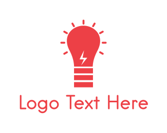 Bulb - Red Bulb logo design