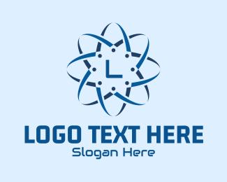 App Development - Digital Blue Tech Lettermark logo design