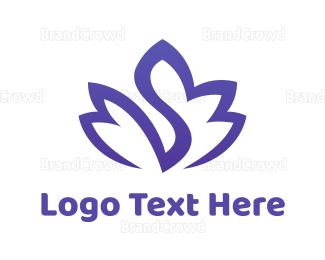 Aged Care - Blue Swan Lotus logo design