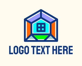 Builder - Multicolor Home Builder  logo design
