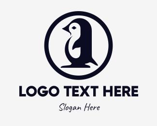 Penguin - Black Penguin logo design