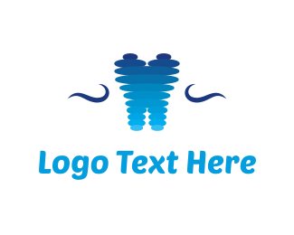 Oval - Abstract Tooth logo design