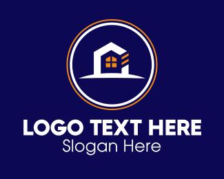 Housing Loan - Home Development Construction Circle logo design