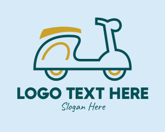 Motor - Motor Scooter Vehicle  logo design