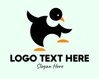 Bird Animal - Dancing Penguin logo design