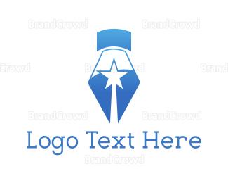 Write - Star Pen logo design