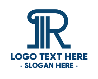 Court House - Professional Pillar R logo design