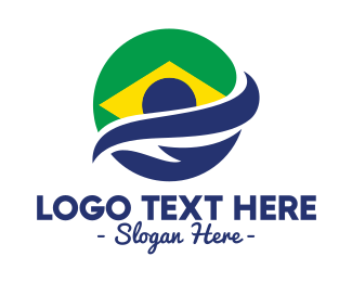 Brasilia - Planet Brazil Swoosh logo design