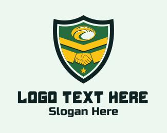 Baseball - Sport Friendship Shield logo design