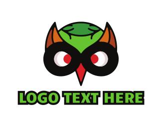 Night Watch - Colorful Owl Head logo design