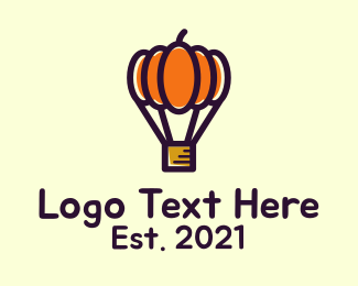 Pumpkin - Pumpkin Hot Air Balloon logo design