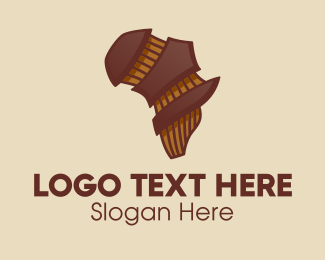 Music Licensing - Brown Musical African Map  logo design