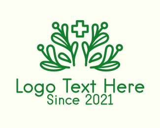 Medicinal - Green Plant Medicine logo design