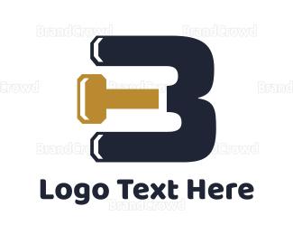 Build - Hammer B logo design