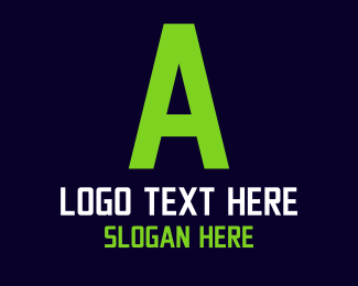 Technological - Green Digital Text logo design