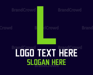 """Green Digital Text"" by BrandCrowd"