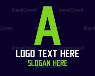 Technological - Green Digital Text logo design