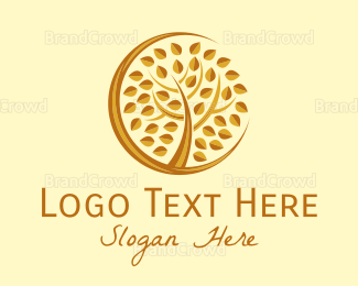 Salon - Bronze Tree logo design