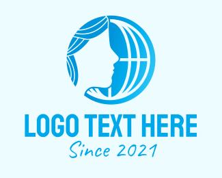 Human Rights - International Women Organization logo design