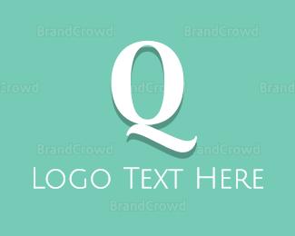 Aqua - Fresh Letter Q logo design