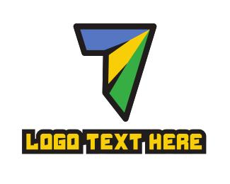 Shattered - Modern Colorful Number 7 logo design