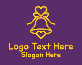 Heart - Lovely Romantic Bell logo design