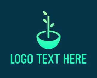 Leaf - Leaf Pot logo design