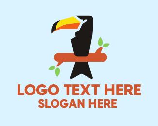 Toucan Bird - Wild Hornbill logo design