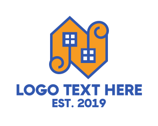 Orange House - Orange N House  logo design
