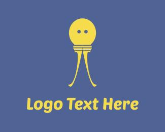 Bulb - Bulb Character logo design