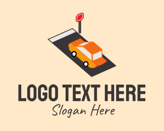 Transport - Isometric Automobile Transport logo design