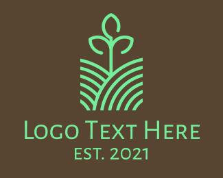 Bio - Agriculture Seedling Plant logo design